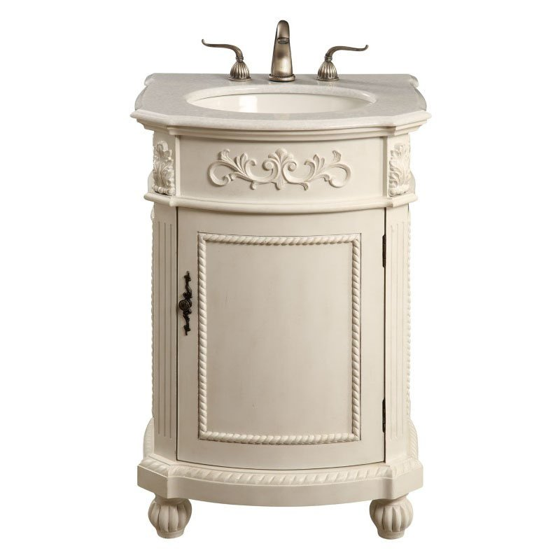 Elegant Decor 24 in. Single Bathroom Vanity Set in Antique White (VF-1010)