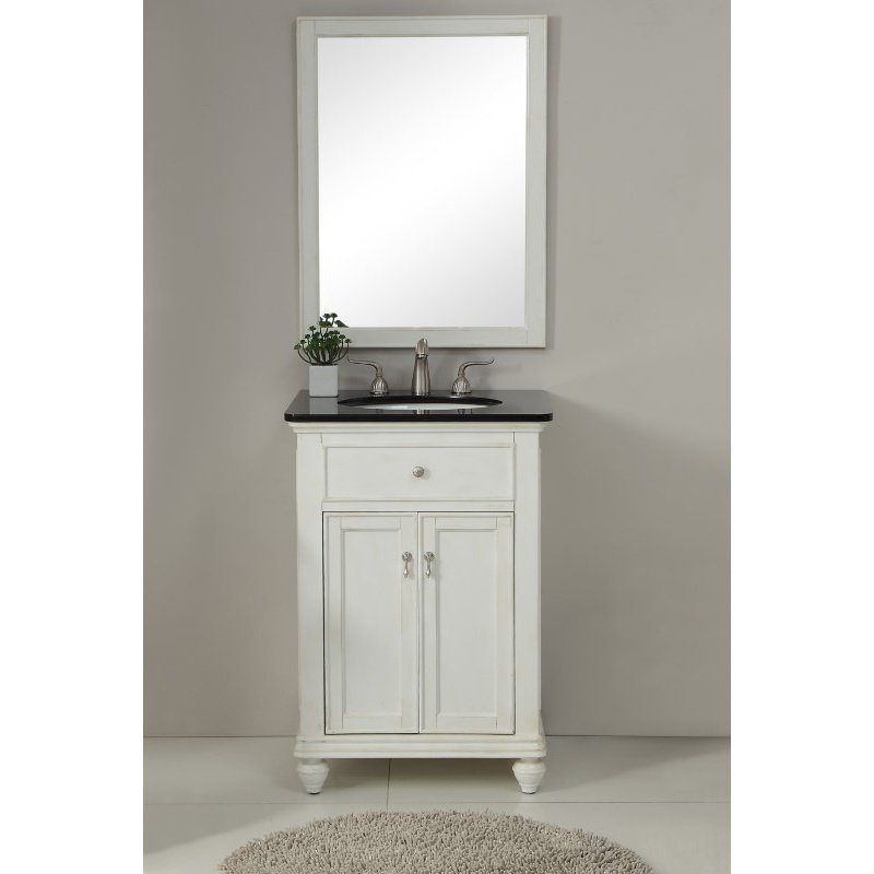 Elegant Decor 24 in. Single Bathroom Vanity Set in Antique White (VF12324AW)