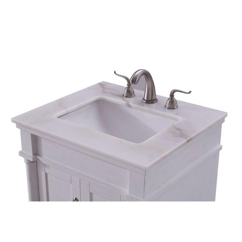 Elegant Decor 24 in. Single Bathroom Vanity Set in Antique White (VF13024AW)