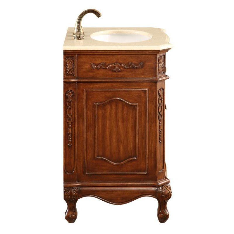 Elegant Decor 24 in. Single Bathroom Vanity Set in Brown (VF-1005)