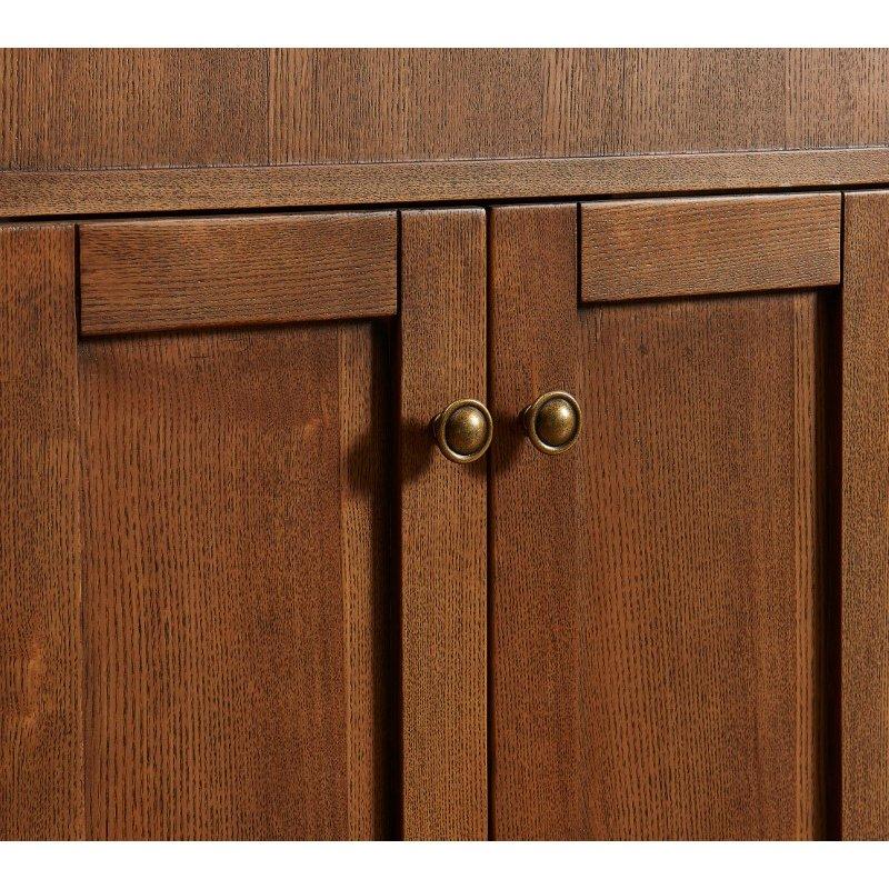 Elegant Decor 24 in. Single Bathroom Vanity Set in Chestnut Wood (VF30124CW)
