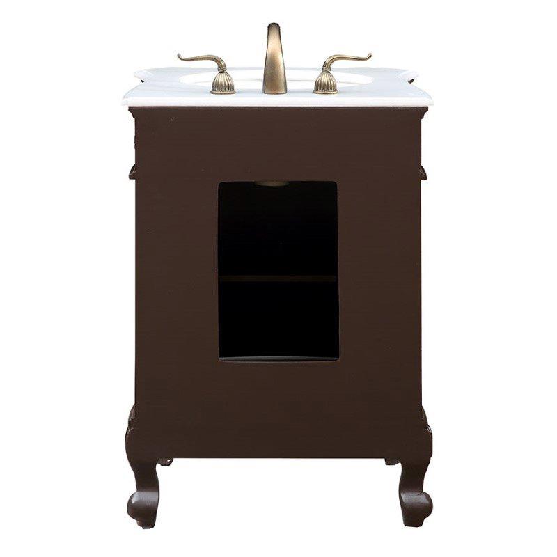 Elegant Decor 24 in. Single Bathroom Vanity Set in Coffee (VF-1031)