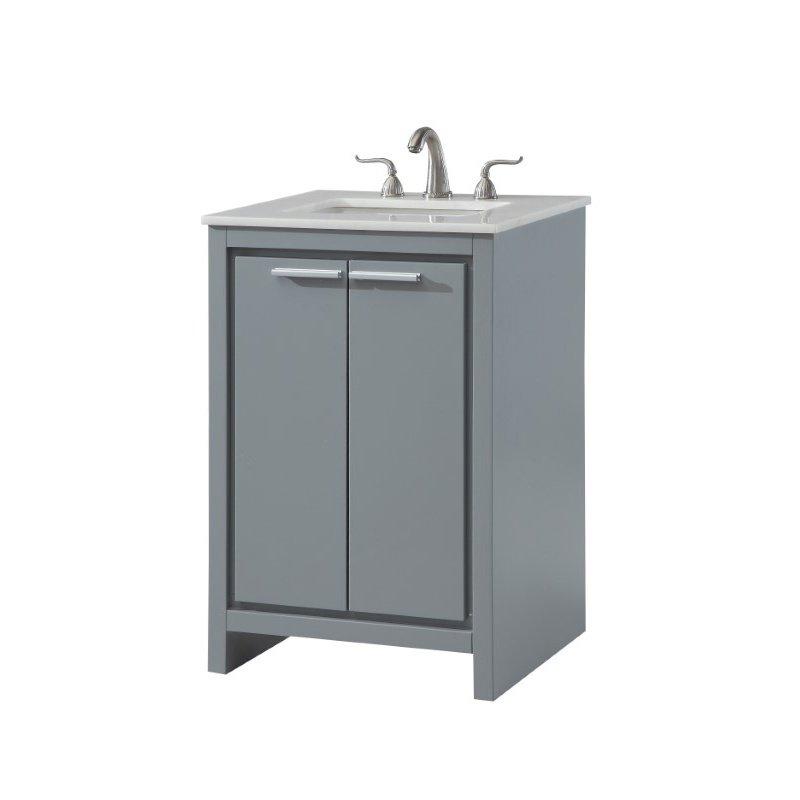 Elegant Decor 24 in. Single Bathroom Vanity Set in Grey (VF12824GR)