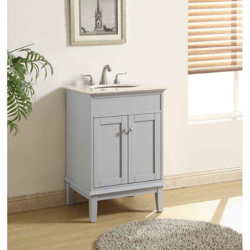 Elegant Decor 24 in. Single Bathroom Vanity Set in Grey (VF30124GR)
