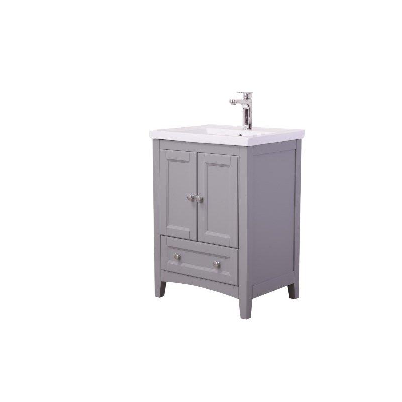 Elegant Decor 24 in. Single Bathroom Vanity Set in Medium Grey (VF-2002)