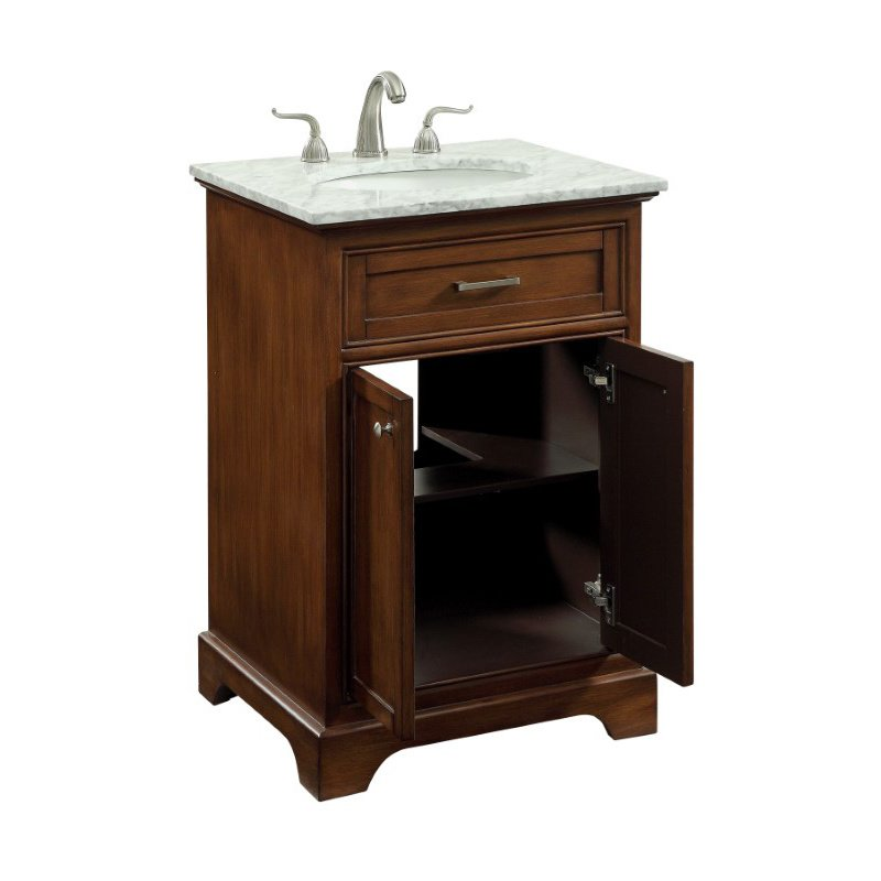 Elegant Decor 24 in. Single Bathroom Vanity Set in Teak (VF15024TK)