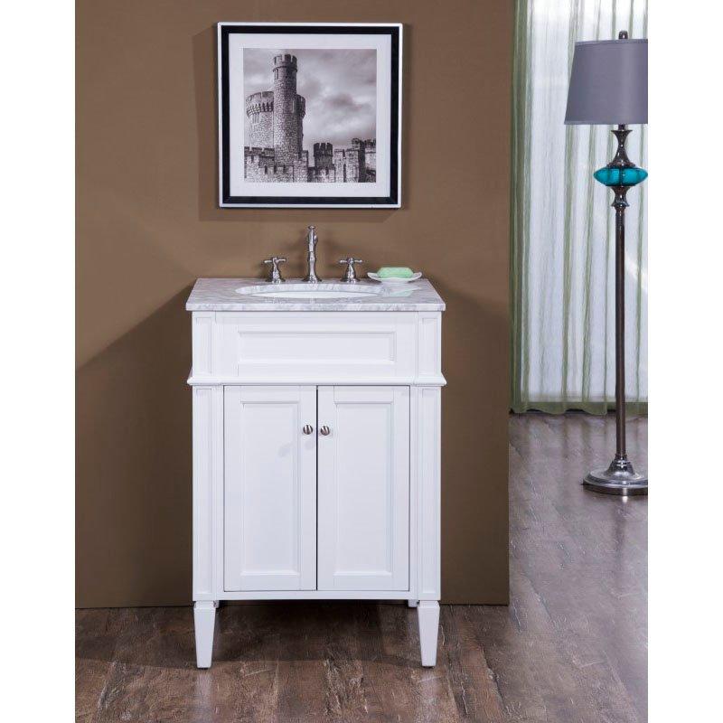 Elegant Decor 24 in. Single Bathroom Vanity Set in White (VF-1026)