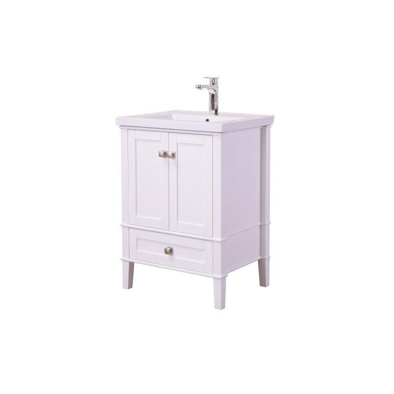 Elegant Decor 24 in. Single Bathroom Vanity Set in White (VF-2001)