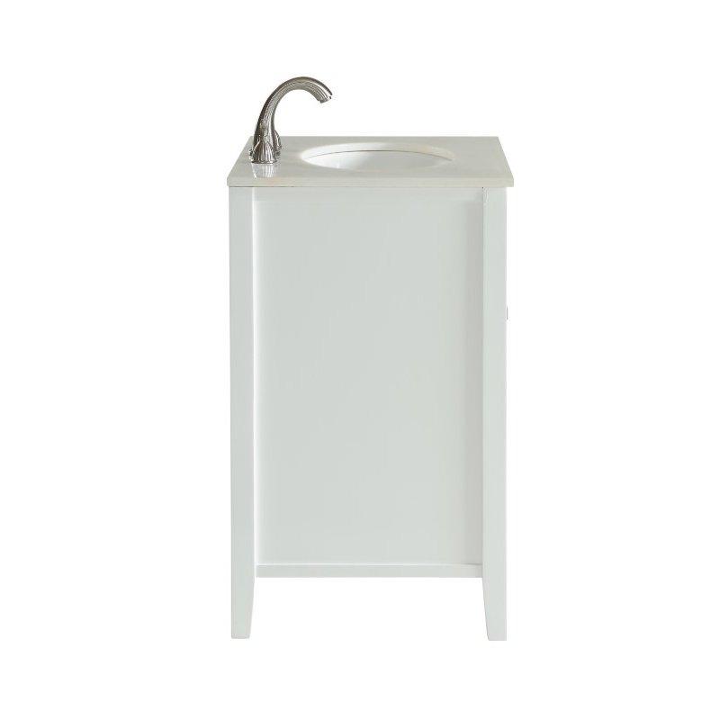 Elegant Decor 24 in. Single Bathroom Vanity Set in White (VF10424WH)
