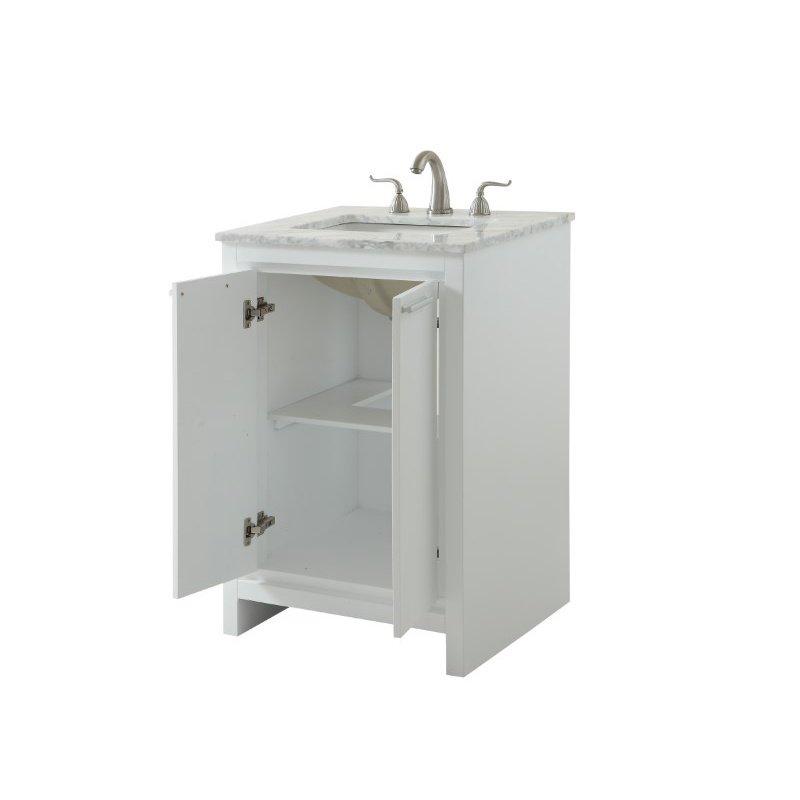 Elegant Decor 24 in. Single Bathroom Vanity Set in White (VF12824WH)