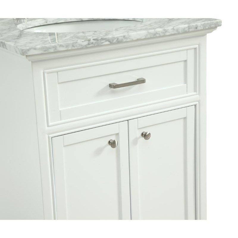 Elegant Decor 24 in. Single Bathroom Vanity Set in White (VF15024WH)