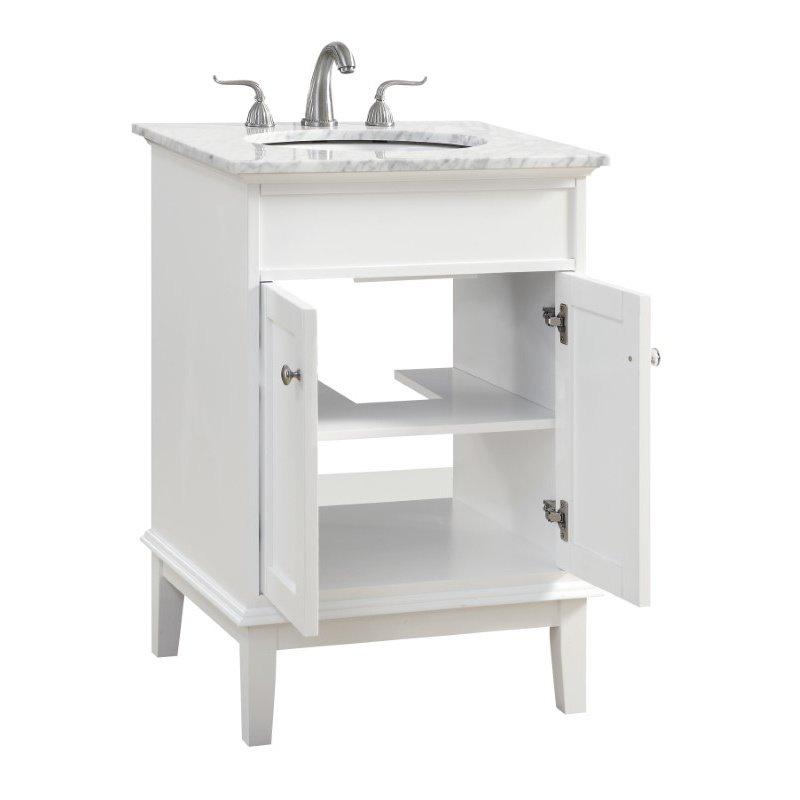 Elegant Decor 24 in. Single Bathroom Vanity Set in White (VF30124WH)