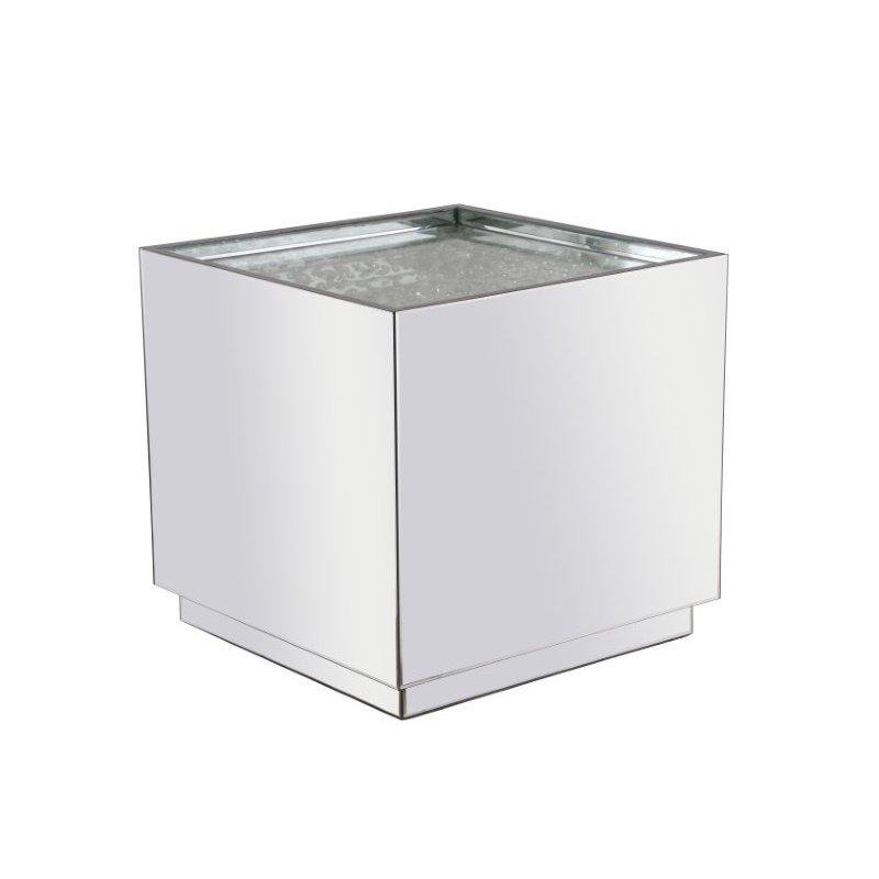 Elegant Decor 24 inch Square Crystal End Table Clear Royal Cut Crystal (MF92002)