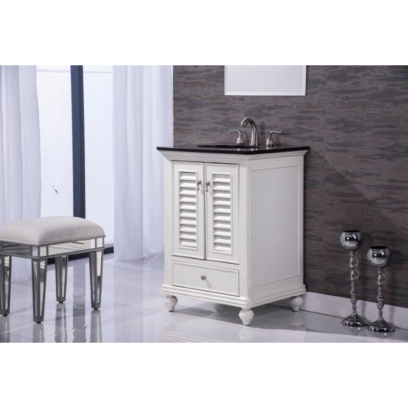 Elegant Decor 25 in. Single Bathroom Vanity Set in Antique White (VF-1022)