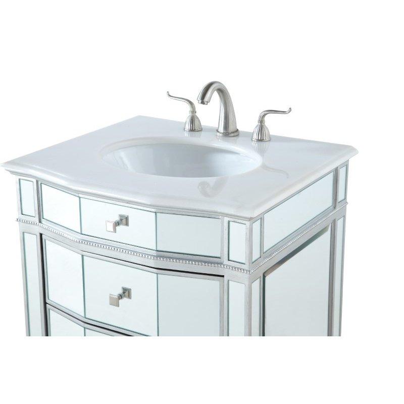 Elegant Decor 26 in. Single Bathroom Vanity Set in Silver (VF-1106)