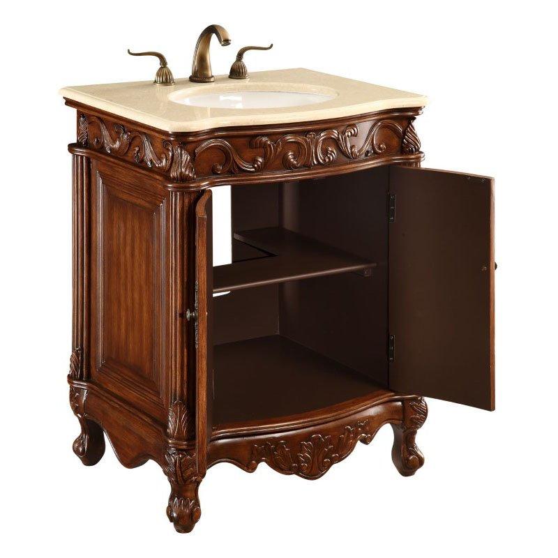 Elegant Decor 27 in. Single Bathroom Vanity Set in Brown (VF-1007)