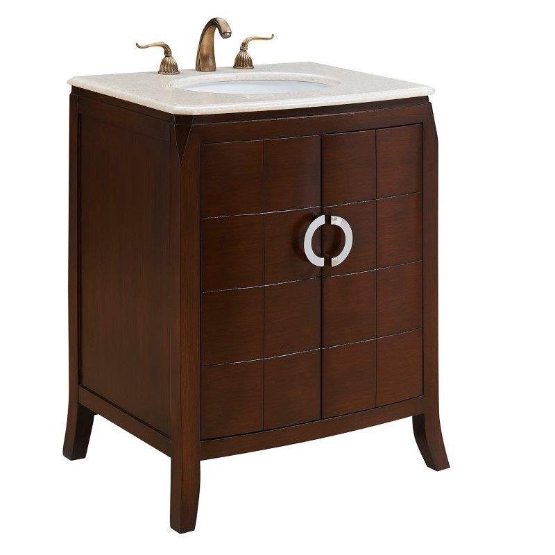 Elegant Decor 27 in. Single Bathroom Vanity Set in Brown (VF-1035)