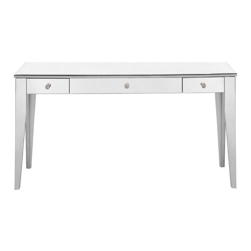 Elegant Decor 3 Drawer Rectangle Desk 54 in. x 16 in. x 30 in. in Silver paint (MF6-1030S)