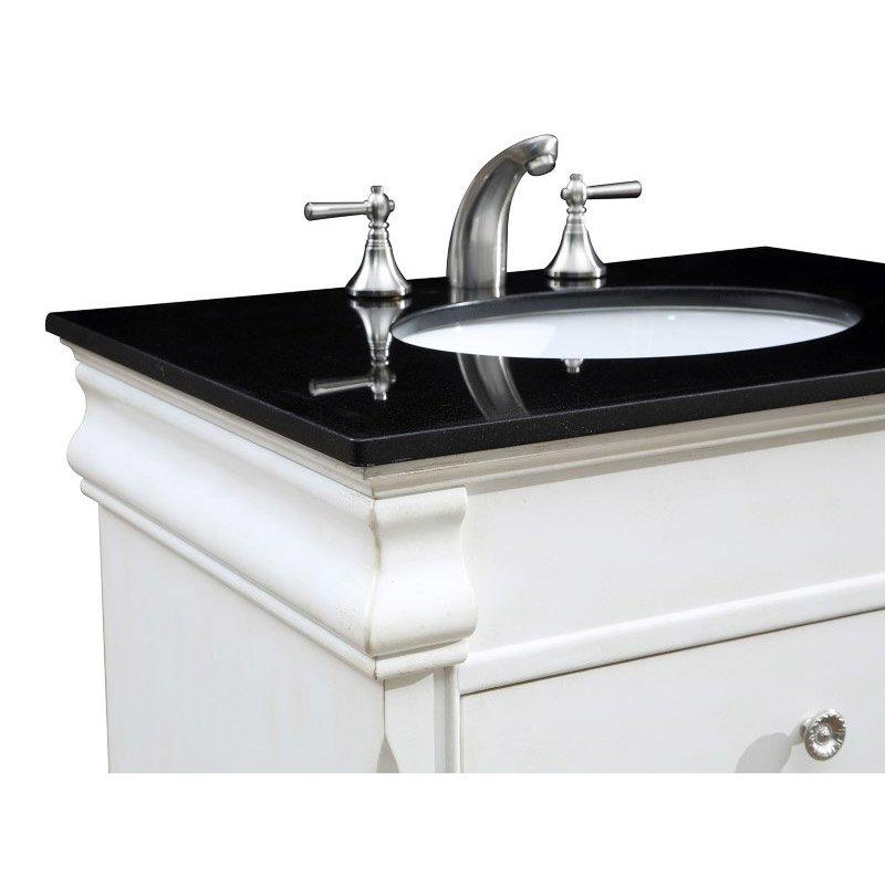 Elegant Decor 30 in. Single Bathroom Vanity Set in Antique White (VF-1021)