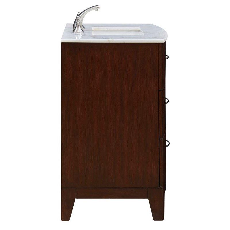 Elegant Decor 30 in. Single Bathroom Vanity Set in Brown (VF-1029)