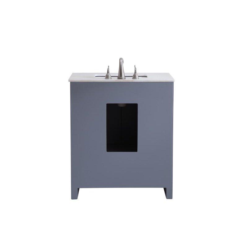 Elegant Decor 30 in. Single Bathroom Vanity Set in Grey (VF-1028)