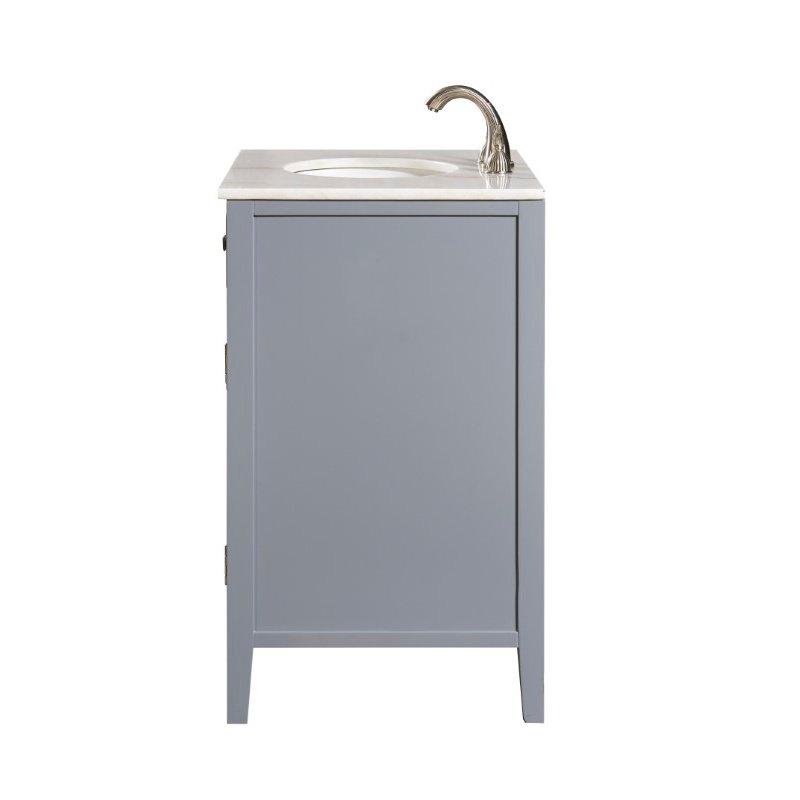 Elegant Decor 30 in. Single Bathroom Vanity Set in Grey (VF10430GR)