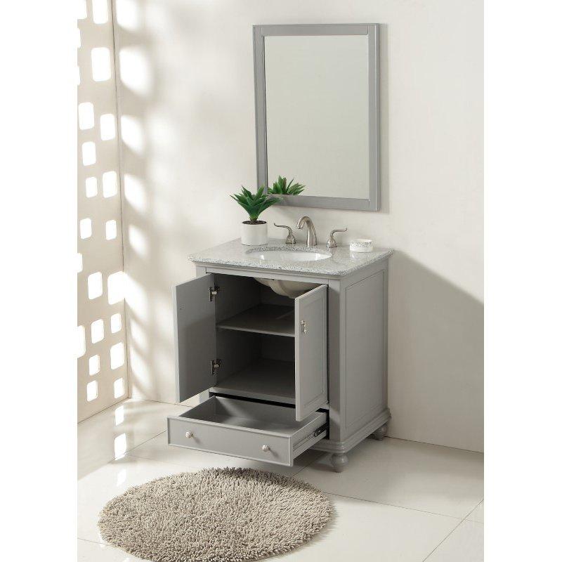 Elegant Decor 30 in. Single Bathroom Vanity Set in Light Grey (VF12330GR)
