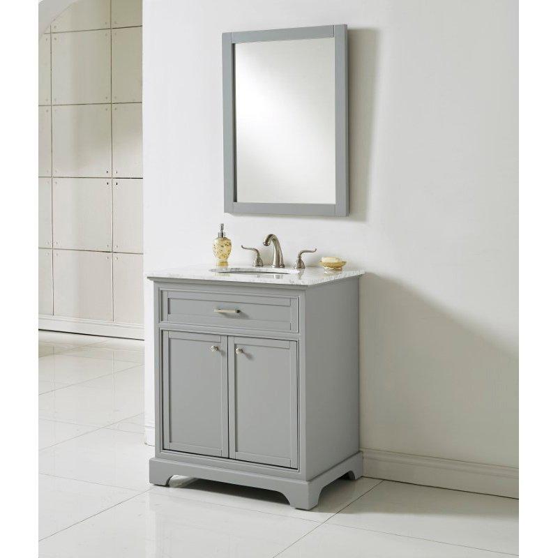 Elegant Decor 30 in. Single Bathroom Vanity Set in Light Grey (VF15030GR)