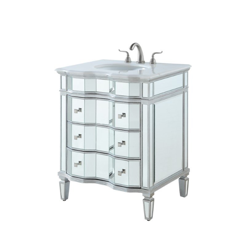 Elegant Decor 30 in. Single Bathroom Vanity Set in Silver (VF-1105)