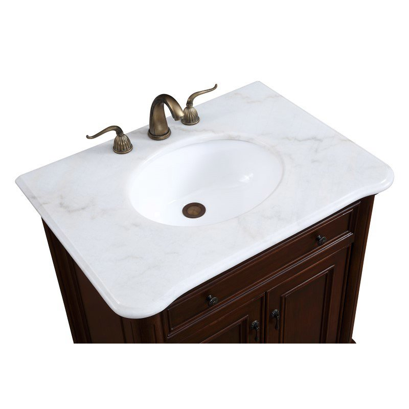 Elegant Decor 30 in. Single Bathroom Vanity Set in Teak Color (VF-1032)