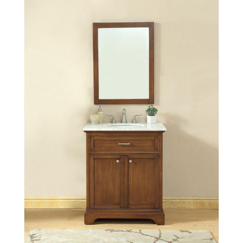 Elegant Decor 30 in. Single Bathroom Vanity Set in Teak (VF15030TK)