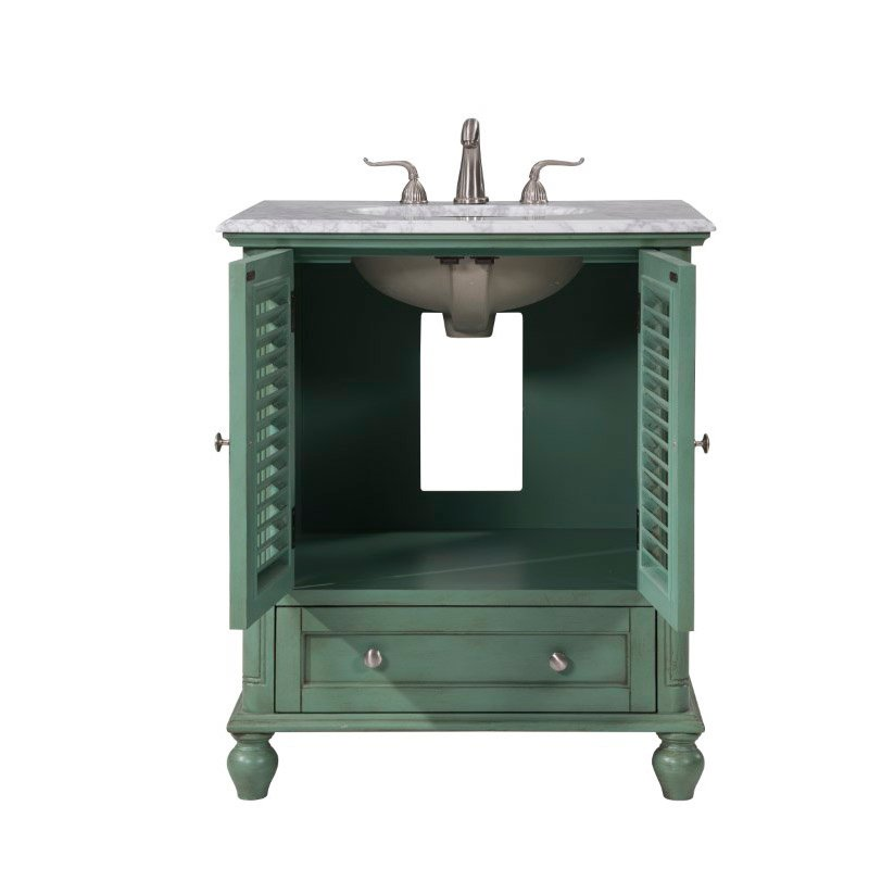 Elegant Decor 30 In.Single Bathroom Vanity Set in Vintage Mint (VF30530VM)