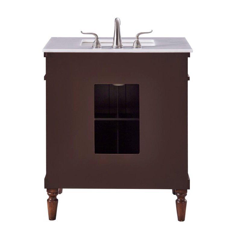 Elegant Decor 30 in. Single Bathroom Vanity Set in Walnut (VF13030WT)