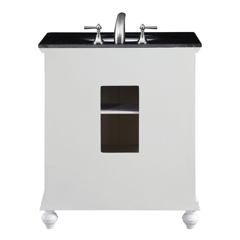 Elegant Decor 30 in. Single Bathroom Vanity Set in White (VF-1023)