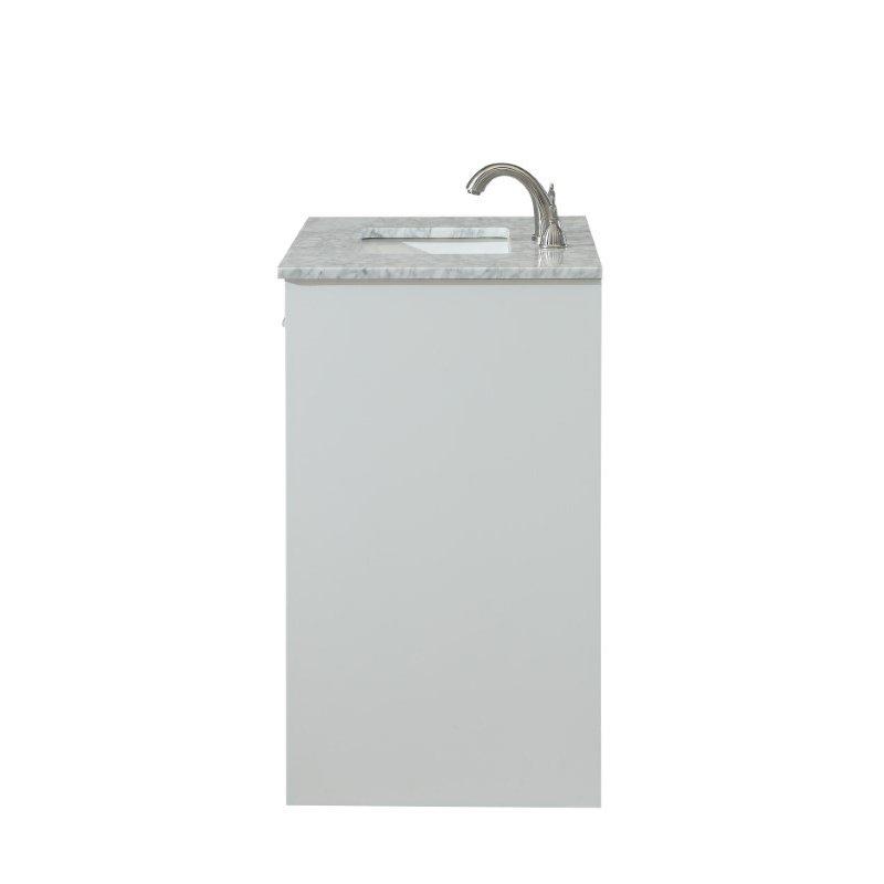 Elegant Decor 30 in. Single Bathroom Vanity Set in White (VF12830WH)