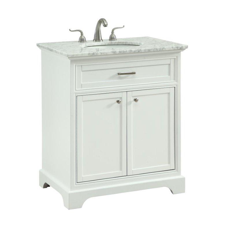 Elegant Decor 30 in. Single Bathroom Vanity Set in White (VF15030WH)