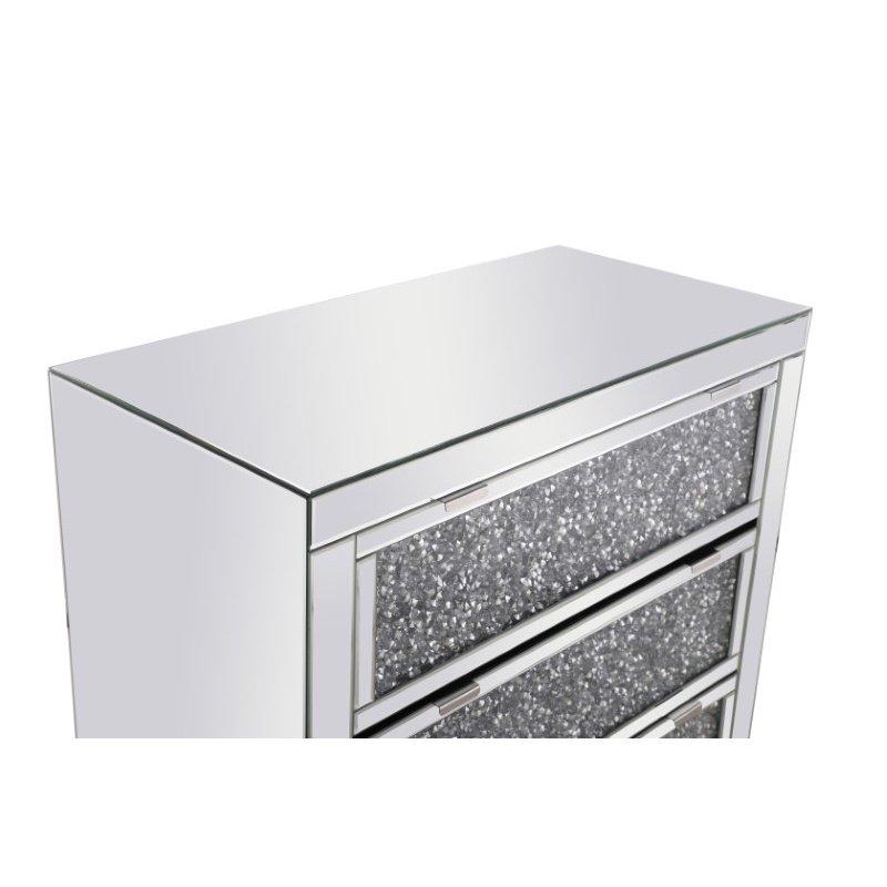 Elegant Decor 31.5 inch Crystal Cabinet Silver Royal Cut Crystal (MF92018)