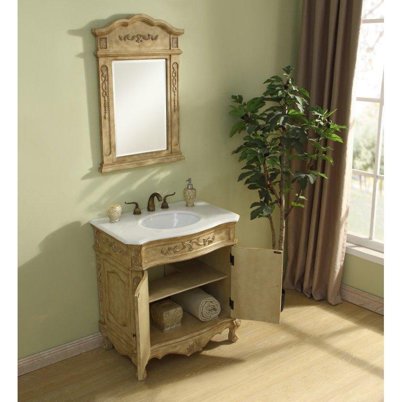 Elegant Decor 32 in. Single Bathroom Vanity Set in Antique Beige (VF10132AB)