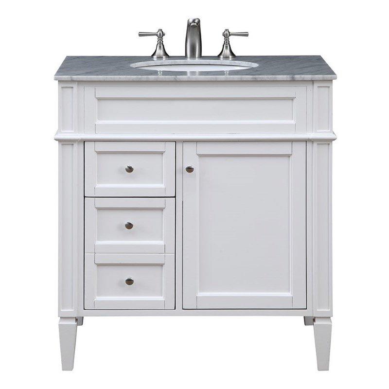 Elegant Decor 32 in. Single Bathroom Vanity Set in White (VF-1024)