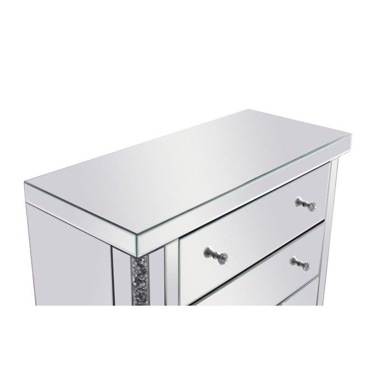 Elegant Decor 35.5 inch Crystal Cabinet Silver Royal Cut Crystal (MF92016)