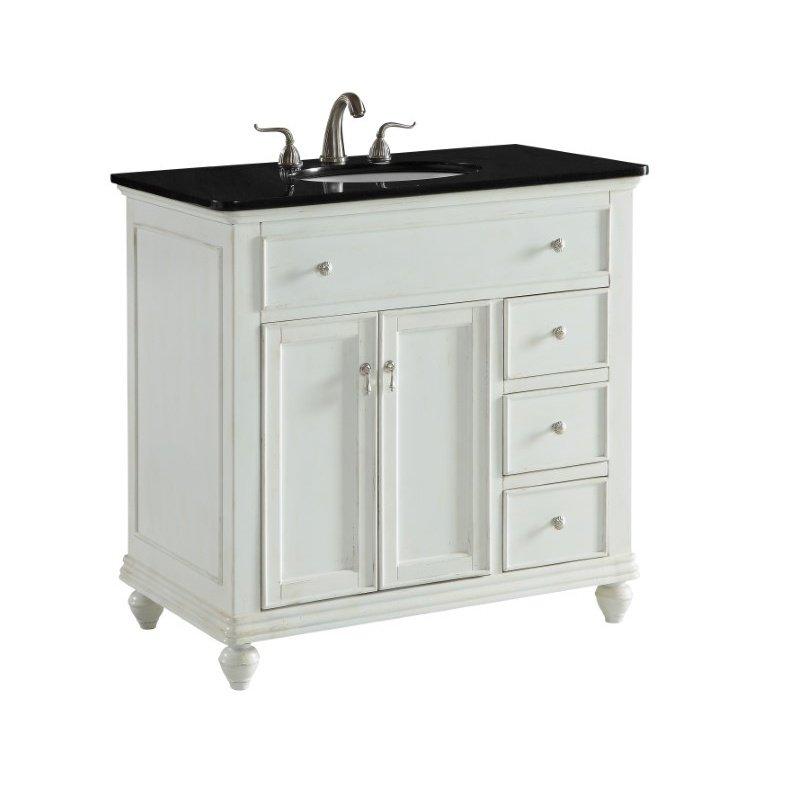 Elegant Decor 36 in. Single Bathroom Vanity Set in Antique White (VF12336AW)