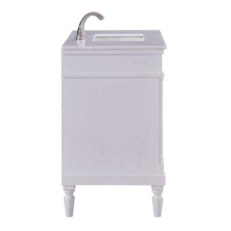Elegant Decor 36 in. Single Bathroom Vanity Set in Antique White (VF13036AW)