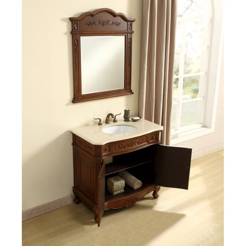 Elegant Decor 36 in. Single Bathroom Vanity Set in Brown (VF10536BR)
