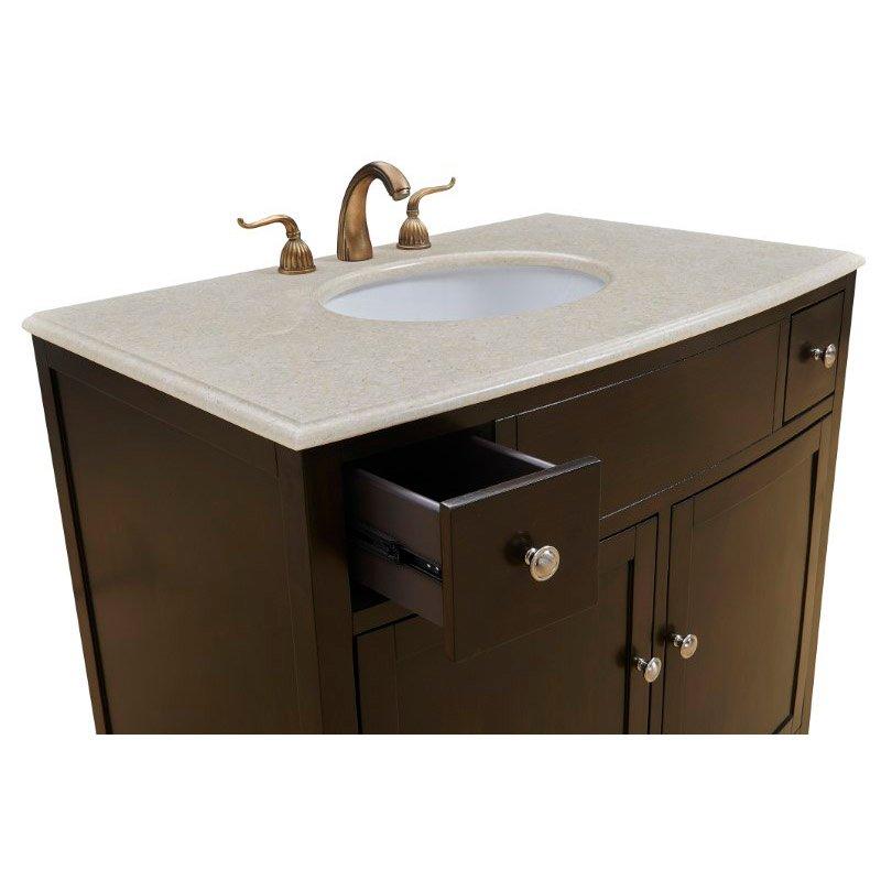 Elegant Decor 36 in. Single Bathroom Vanity Set in Dark Brown (VF-1036)