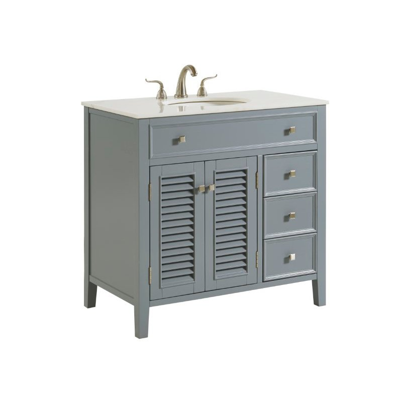 Elegant Decor 36 in. Single Bathroom Vanity Set in Grey (VF10436GR)