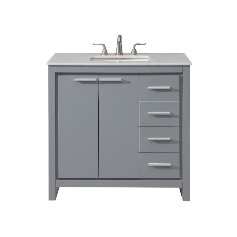 Elegant Decor 36 in. Single Bathroom Vanity Set in Grey (VF12836GR)