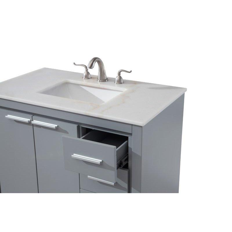 Elegant Decor 36 in. Single Bathroom Vanity Set in Grey (VF12836GR)