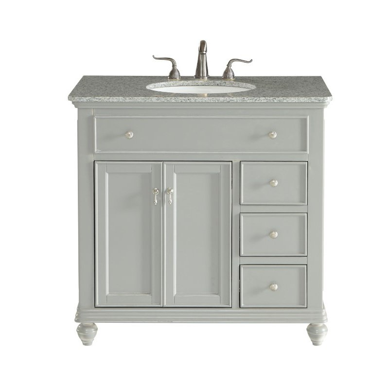 Elegant Decor 36 in. Single Bathroom Vanity Set in Light Grey (VF12336GR)