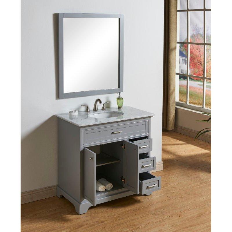Elegant Decor 36 in. Single Bathroom Vanity Set in Light Grey (VF15036GR)