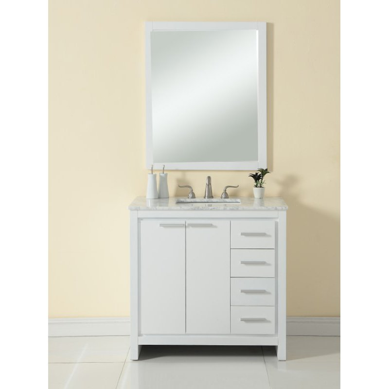 Elegant Decor 36 in. Single Bathroom Vanity Set in White (VF12836WH)